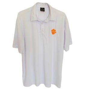 Clemson Tigers Performance White Polo Shirt